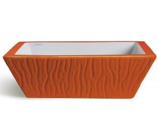 Pietra håndvask i keramik 59,5 x 39,5 cm - Orange