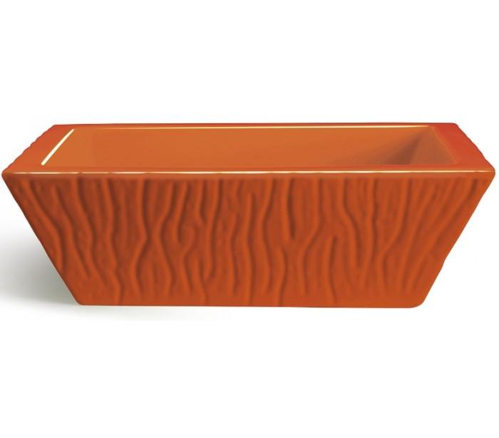 selected by lepong Pietra håndvask i keramik 59,5 x 39,5 cm - orange på lepong.dk