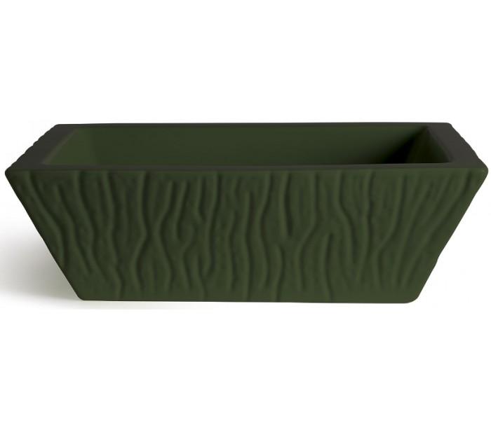 Pietra håndvask i keramik 59,5 x 39,5 cm – Mat engelsk grøn