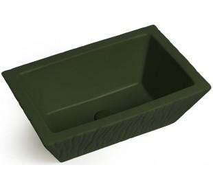Pietra håndvask i keramik 59,5 x 39,5 cm - Mat engelsk grøn