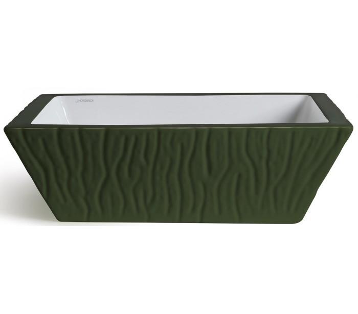 selected by lepong Pietra håndvask i keramik 59,5 x 39,5 cm - engelsk grøn på lepong.dk