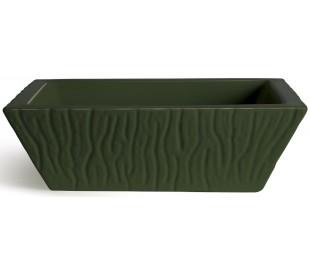 Pietra håndvask i keramik 59,5 x 39,5 cm - Engelsk grøn