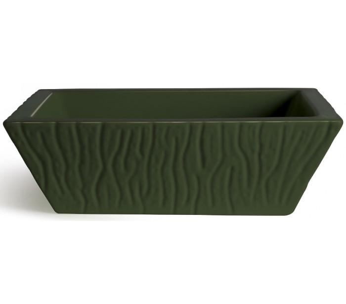 horganica Pietra håndvask i keramik 59,5 x 39,5 cm - engelsk grøn fra lepong.dk