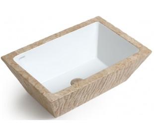 Pietra håndvask i keramik 59,5 x 39,5 cm - Travertin