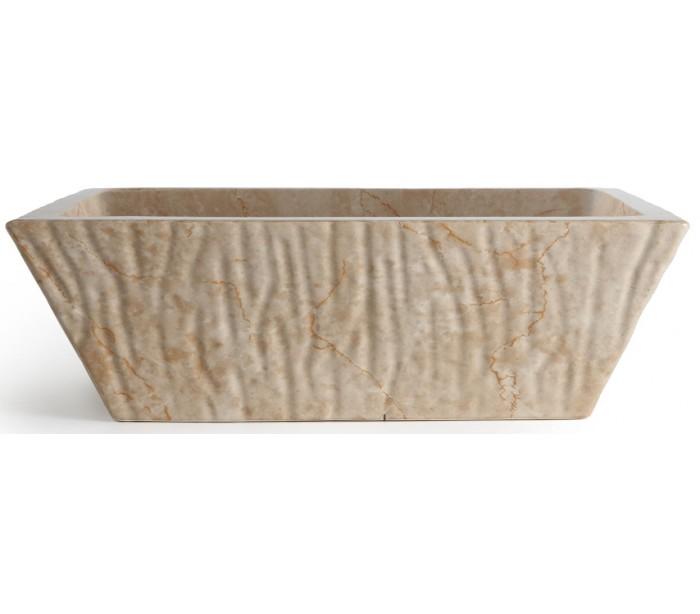 Pietra håndvask i keramik 59,5 x 39,5 cm - travertin fra deko light på lepong.dk