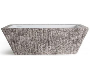 Pietra håndvask i keramik 59,5 x 39,5 cm - Gråbrun marmor