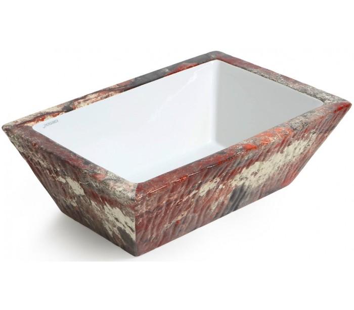 Image of   Pietra håndvask i keramik 59,5 x 39,5 cm - Lava marmor