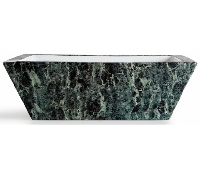 dreizehngrad – Pietra håndvask i keramik 59,5 x 39,5 cm - grøn marmor fra lepong.dk
