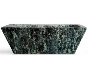 Pietra håndvask i keramik 59,5 x 39,5 cm - Grøn marmor