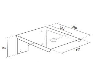 Pietra hylde til vægmontering af vask - Hvid