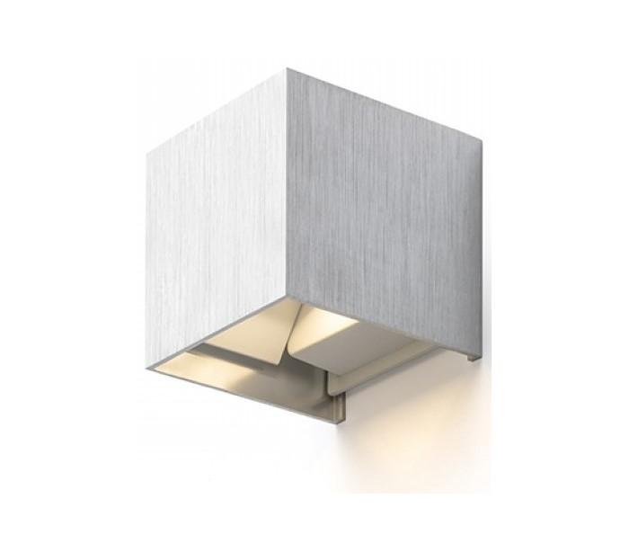 philips belysning – Tito sq udendørs væglampe 6w led - børstet aluminium fra lepong.dk