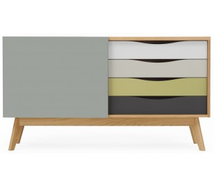 Avon sideboard i retro design - Eg/Abbey