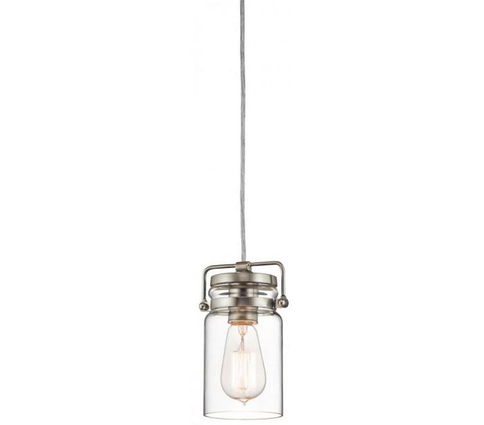 kichler Brinley loftslampe ø12,1 cm 1 x e27 - børstet nikkel på lepong.dk
