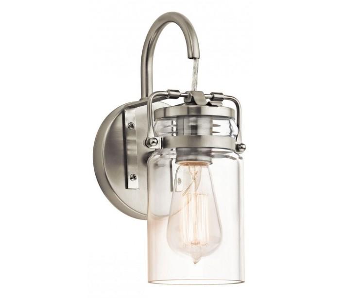 Image of   Brinley Væglampe H29,2 cm 1 x E27 - Børstet nikkel