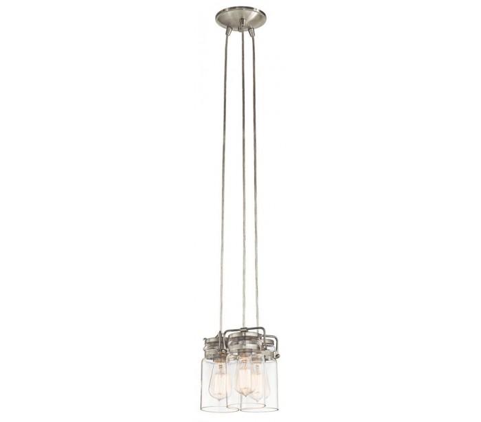 kichler Brinley 3 loftslampe ø21,6 cm 3 x e27 - børstet nikkel fra lepong.dk
