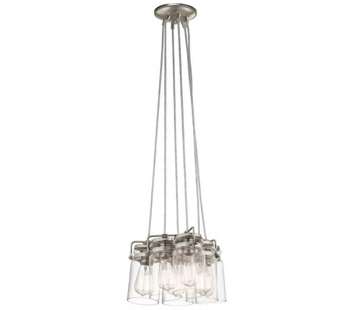 kichler Brinley 6 loftslampe ø30,5 cm 6 x e27 - børstet nikkel på lepong.dk