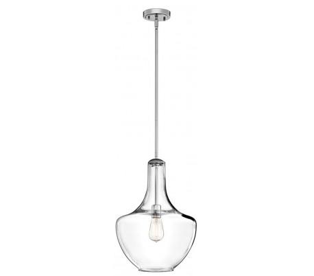 Køb Klar glas pendel lampe E27   71703819