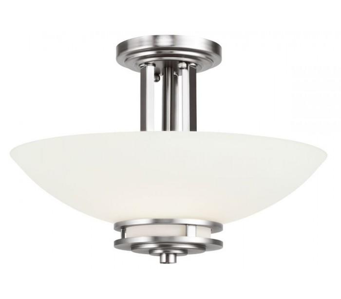 Image of   Hendrik Badeværelseslampe i stål og glas Ø38,1 cm 3 x G9 LED - Poleret krom/Hvid