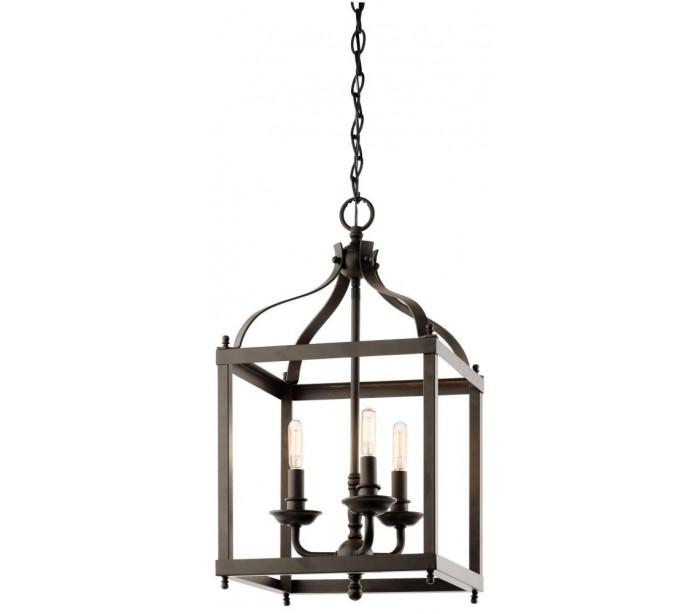 Larkin Loftslampe i stål 30,5 x 30,5 cm 3 x E14 – Aldret bronze fra Kichler