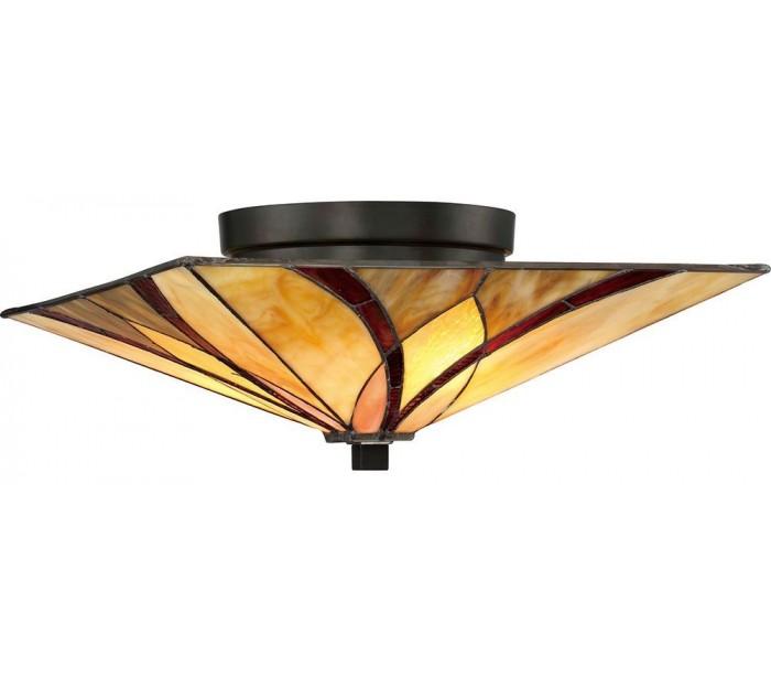 quoizel lighting – Asheville tiffany plafond ø38,1 cm 2 x e27 - mørk bronze på lepong.dk