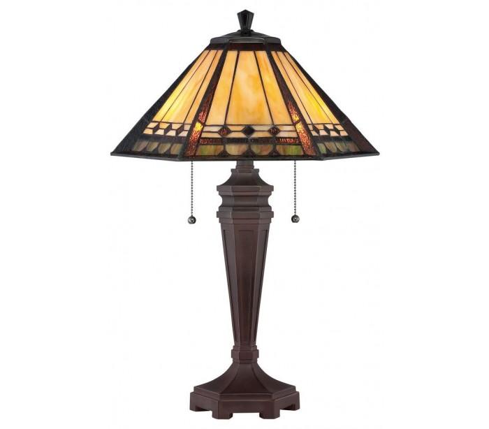 quoizel lighting Arden tiffany bordlampe h59,7 cm 2 x e27 - mørk bronze på lepong.dk