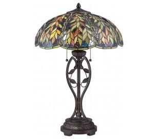 Belle Tiffany Bordlampe H64,8 cm 2 x E27 - Mørk bronze