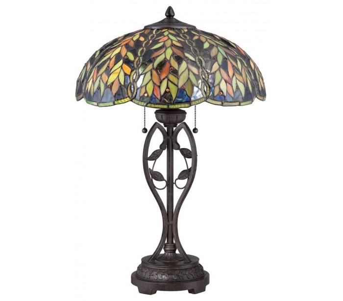 quoizel lighting – Belle tiffany bordlampe h64,8 cm 2 x e27 - mørk bronze fra lepong.dk