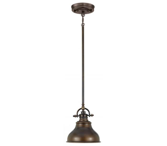 gie el home Emery pendellampe i metal og glas ø20,3 cm 1 x e27 - aldret bronze på lepong.dk