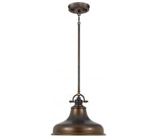Emery Pendellampe i metal og glas Ø34,3 cm 1 x E27 - Aldret bronze