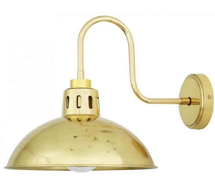 Talise Badeværelseslampe 32,5 x 30 cm 1 x E27 IP65 – Poleret messing fra Quoizel Lighting