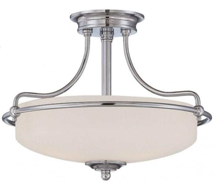 quoizel lighting – Griffin semi-flush plafond ø43,2 cm 3 x e27 - poleret krom/satin fra lepong.dk