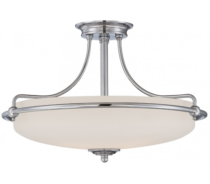 quoizel lighting – Griffin semi-flush plafond ø53,3 cm 4 x e27 - poleret krom/satin på lepong.dk