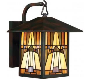 Inglenook Tiffany Udendørs Væglampe H31,4 cm 1 x E27