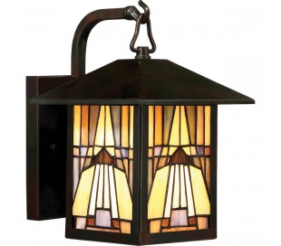Inglenook Tiffany Udendørs Væglampe H28,7 cm 1 x E27