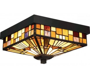 Inglenook Tiffany Udendørs Loftlampe 26,1 x 26,1 cm 2 x E27