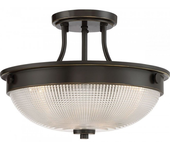 Image of   Mantle Semi-Flush Plafond Ø32,7 cm 2 x E27 - Antik bronze