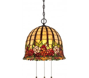 Rosecliffe Tiffany loftslampe til 3 x E27 lyskilder Ø38,1 cm