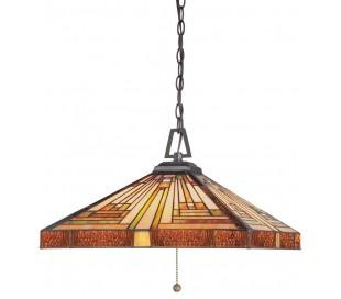 Stephen Tiffany loftslampe til 3 x E27 lyskilder Ø45,7 cm
