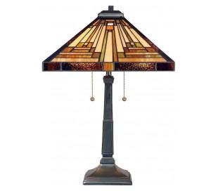 Stephen Tiffany bordlampe til 2 x E27 lyskilder H58,4 cm