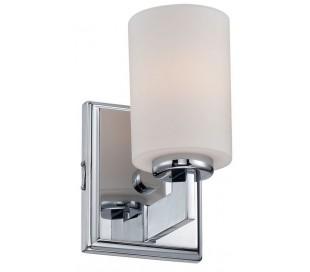 Taylor Badeværelseslampe i stål og glas H19,5 cm 1 x G9 LED - Poleret krom/Hvid