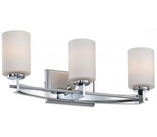 Taylor Badeværelseslampe i stål og glas B53,3 cm 3 x G9 LED - Poleret krom/Hvid