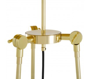 Erill Gulvlampe H162,5 cm 1 x E27 - Messing/Sort