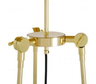 Erill Gulvlampe H162,5 cm 1 x E27 - Messing/Creme