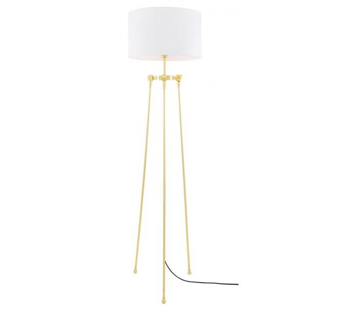Erill Gulvlampe H162,5 cm 1 x E27 – Messing/Hvid