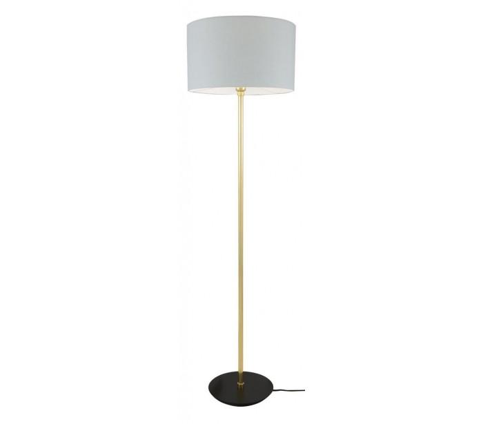 horganica Inch gulvlampe h148 cm 1 x e27 - grå/messing på lepong.dk