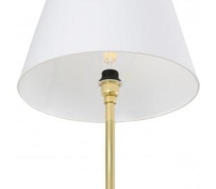 Lyre Gulvlampe H148 cm 1 x E27 - Hvid/Messing