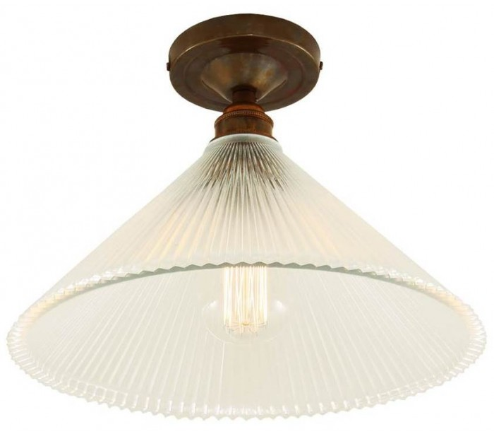 Image of   Hanoi Plafond Ø30 cm 1 x E27 - Antik messing