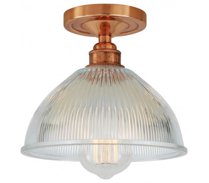 Image of   Erbil Plafond Ø19,5 cm 1 x E27 - Poleret kobber