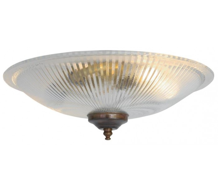 Image of   Nicosa Plafond Ø30 cm 2 x E14 - Antik messing