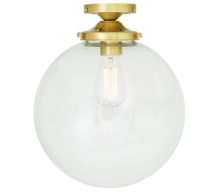 Image of   Riad Kugleplafond Ø30 cm 1 x E27 - Satineret messing